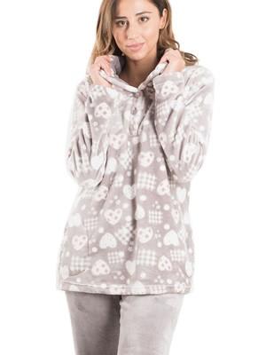 BONNE NUIT Πυτζάμα Πολυτελείας - Ζεστό & Απαλό Fleece - All Over Σχέδιο - Χειμώνας 2019/20