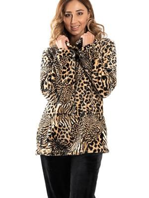 Πυτζάμα Πολυτελείας BONNE NUIT - Ζεστό & Απαλό Fleece - Animal - Smart Choice FW20/21
