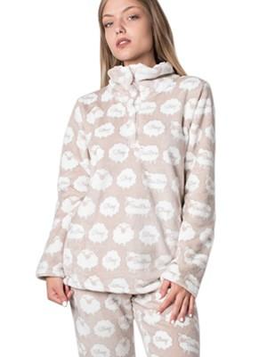 Πυτζάμα Πολυτελείας Bonne Nuit – Ζεστό Fleece - All Over Σχέδιο - Hot Pick 18/19