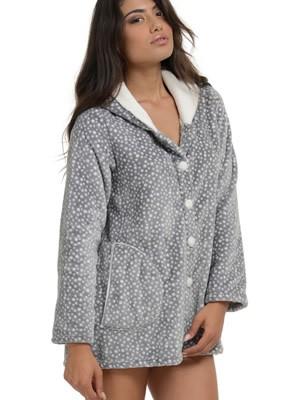 Ρόμπα Πολυτελείας Bonne Nuit – Γεμάτο Fleece – All Over Dots Πουά – Hot Pick 18-19