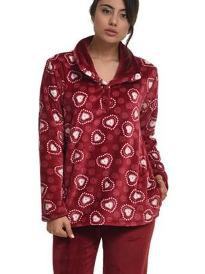 Πυτζάμα Πολυτελείας Bonne Nuit - Ζεστό Fleece - Σχέδιο Καρδιές - Χειμώνας 2018/19