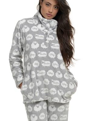 Πυτζάμα Πολυτελείας Bonne Nuit – Ζεστό Fleece - All Over Σχέδιο
