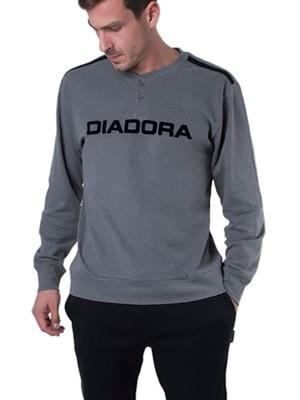 Ανδρική Πυτζάμα Homewear DIADORA - 100% Βαμβάκι Interlock - Γκρι/Μαύρο - Χειμώνας 18/19