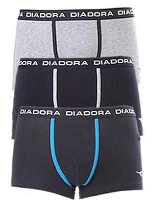 Diadora Boxer 5859 - Βαμβακερό - Φαρδύ Λάστιχο - Logo Diadora - 3 τεμάχια