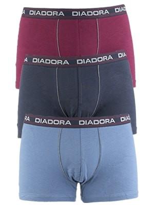 Diadora Boxer 5906 - Βαμβακερό - Φαρδύ Λάστιχο - Logo Diadora - 3 τεμάχια