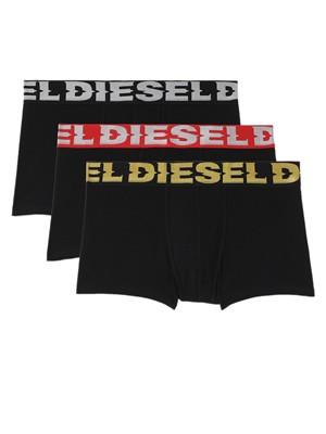 DIESEL Damien Boxer - Ελαστικό Βαμβάκι - Metallic Logo - Πακέτο με 3 - Καλοκαίρι 2021
