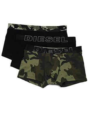 DIESEL Damien Boxers - Ελαστικό Βαμβάκι - Army Look - Πακέτο με 3