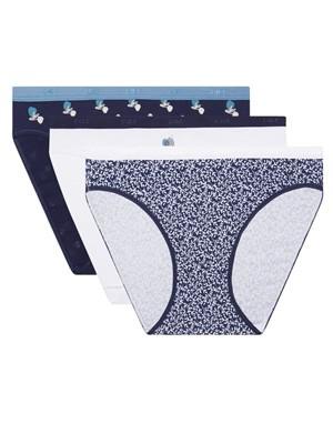 DIM Γυναικεία Σλιπς Les Pockets Cotton 9JQ - Βαμβακερά - Πακέτο με 3 - Χειμώνας 2020/21