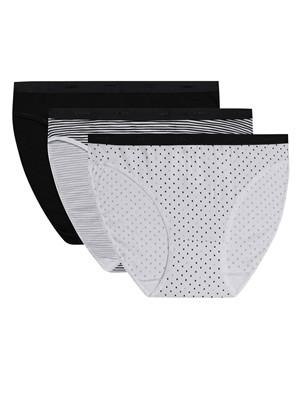 DIM Γυναικεία Σλιπ Les Pockets Cotton A2M - Βαμβακερά - Πακέτο με 3 - Χειμώνας 2021/22