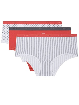 DIM Γυναικεία Boxers Les Pockets Cotton 8YΙ - Βαμβακερά - Πακέτο με 3