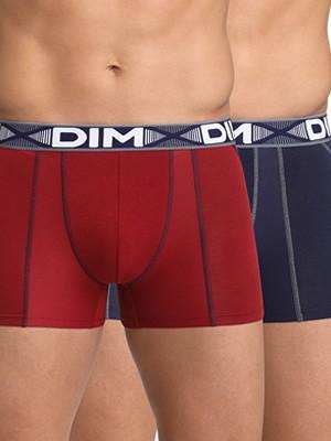 DIM Ανδρικό Boxer 8NW - Cotton 3D Flex - Ελαστικό Βαμβάκι - Πακέτο με 2 - Χειμώνας 2021/22