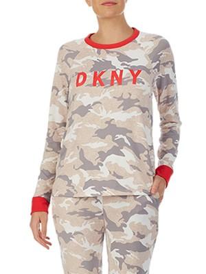 Πυτζάμα Πολυτελείας DKNY - Super Απαλή - Army Print - Χειμώνας 2020/21