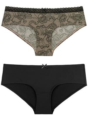 Σλιπ Dorina ABBIE Hipster - 1+1 Δώρο - Floral Σχέδιο & Δαντέλα