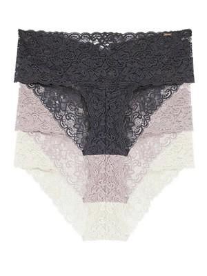 DORINA Lana Slip Boxer - Ελαστική Floral Δαντέλα - 3 Τεμάχια - Χειμώνας 2021/22