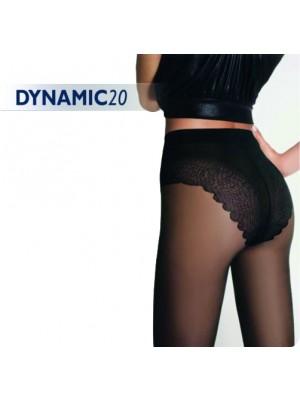 Καλσόν Golden Lady DYNAMIC 20den Λεπτό - Με Επικάλυψη Lycra - Επίπεδο Δαντελένιο Slip - Κατάλληλο για πέδιλο