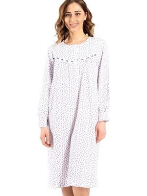Νυχτικό ΓΙΩΤΑ Homewear - 100% Βαμβακερό - Κουμπιά & Floral Σχέδιο - Χειμώνας 2020/21