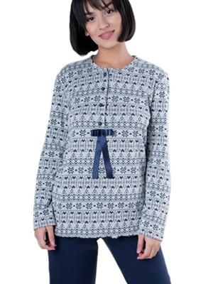 Πυτζάμα Γιώτα Homewear - Γεμάτο Βαμβάκι - Πλεχτό Look - Extra Ζεστή & Απαλή - Χειμώνας 2018/19