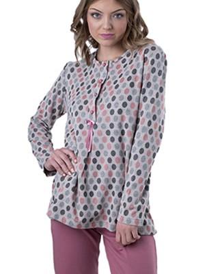 Πυτζάμα Γιώτα Homewear - Γεμάτο Βαμβάκι - Πλεχτό Look - Fleece Επένδυση - Χειμώνας 2018/19