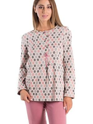 Πυτζάμα ΓΙΩΤΑ Homewear - Γεμάτο Βαμβάκι - Πλεχτό Look - Fleece Επένδυση - Smart Pick 19/20
