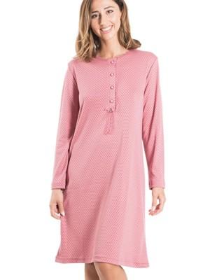 Νυχτικό ΓΙΩΤΑ Homewear - Γεμάτο Βαμβάκι - Dots Πουά Σχέδιο - Νέα Μαμά - Χειμώνας 2019/20