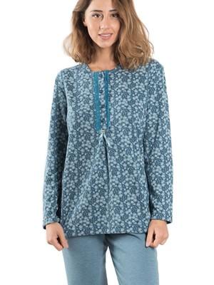 Πυτζάμα ΓΙΩΤΑ Homewear - Γεμάτο Βαμβάκι - Floral Σχέδιο - Νέα Μαμά - Χειμώνας 2019/20