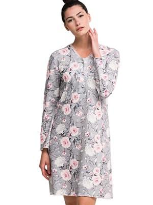 Νυχτικό ΓΙΩΤΑ Homewear - 100% Βαμβάκι Interlock - Floral Σχέδιο - Νέα Μαμά - Χειμώνας 2020/21