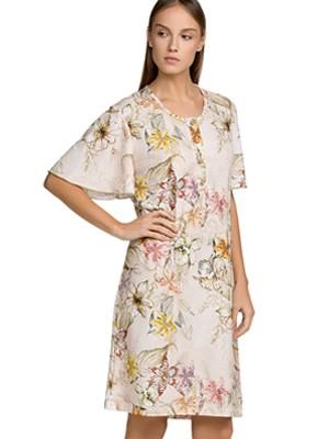 Νυχτικό ΓΙΩΤΑ Homewear - 100% Βαμβακερό - Floral Σχέδιο & Κουμπιά - Καλοκαίρι 2021