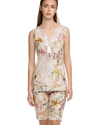 Πυτζάμα ΓΙΩΤΑ Homewear - 100% Βαμβακερή - Floral Σχέδιο & Κουμπιά - Καλοκαίρι 2021