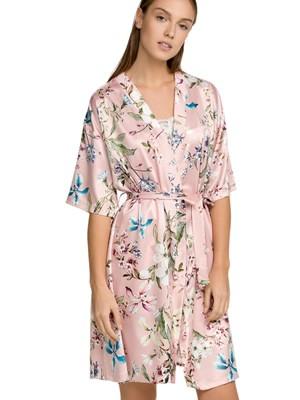 Ρόμπα ΓΙΩΤΑ Homewear - Απαλό Σατέν - Floral Σχέδιο - Καλοκαίρι 2021