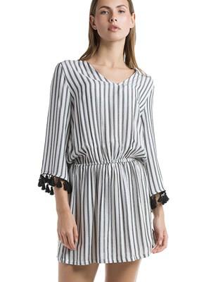 Φόρεμα - Καφτάνι Harmony Boho Style - Αέρινο Ύφασμα & Φούντες