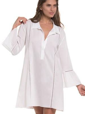 Φόρεμα Καφτάνι Harmony - Απαλό Αέρινο Ύφασμα - Σχέδιο Κέντημα & Κουμπιά - Καλοκαίρι 2019
