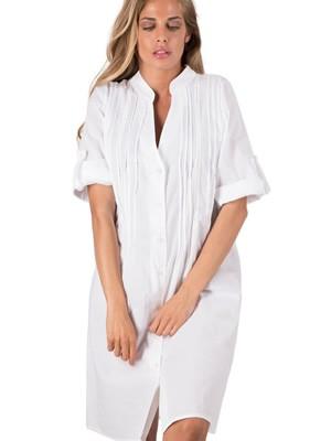 Φόρεμα - Καφτάνι Harmony - Αέρινο Ύφασμα - Σχέδιο Κέντημα & Κουμπιά