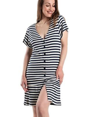 Φόρεμα Beachwear Harmony - Αέρινο Viscose - Κουμπιά & Βολάν - Καλοκαίρι 2020