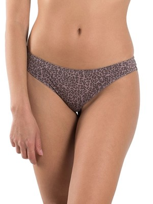 INFIORE Brasilian Slip Bianca - Δαντέλα & Animal Print - Valenine 2020