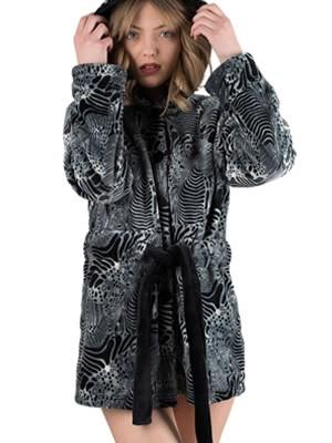 Ρόμπα Πολυτελείας Kare - Ζεστό & Απαλό Fleece - Animal Σχέδιο - Χειμώνας 2018/19