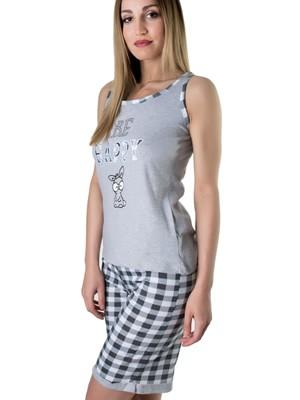 Πυτζάμα Homewear Karelpiu – 100% Βαμβάκι – Καρό Παντελόνι