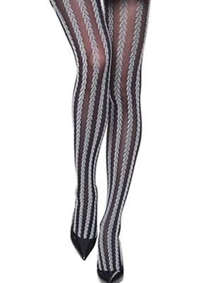 Καλσόν Γεμάτο Meri By Mura Moda - Πλεχτές Ρίγες