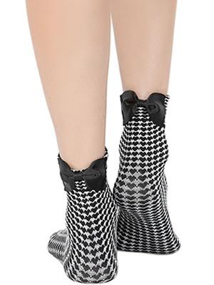 Γυναικεία Κάλτσα Meritex - All Over Σχέδιο Καρδιές & Φιόγκος