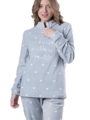 Πυτζάμα Γυναικεία Milkymilla - Απαλό και Ζεστό Fleece - All Over Σχέδιο - Χειμώνας 2018/19