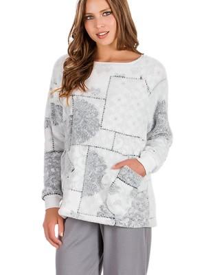 Πυτζάμα Γυναικεία MINERVA Print - Ζεστό Fleece & Βαμβάκι - Hot Pick 19/20