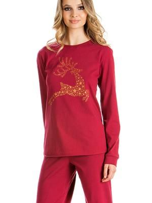Πυτζάμα Γυναικεία Minerva Deer - 100% Βαμβάκι Interlock - Χειμώνας 2018/19