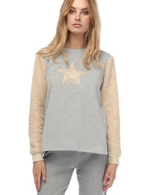 Πυτζάμα Φόρμα Γυναικεία MINERVA Star -Φούτερ Βαμβάκι - Γούνινο Σχέδιο - Smart Choice FW20/21