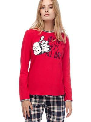 Πυτζάμα Γυναικεία MINERVA PJ'S All Day - 100% Βαμβάκι Interlock - Καρό Παντελόνι - Χειμώνας 2019/20