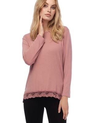 MINERVA Πυτζάμα Γυναικεία - Viscose Πλεχτό Τοπ & Κολάν Παντελόνι - Smart Choice FW20/21