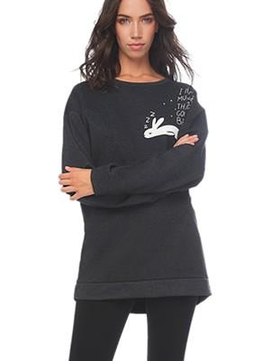 Πυτζάμα Γυναικεία MINERVA Bunny - Μπλούζα Φούτερ Ζεστή - Κολάν Παντελόνι - Χειμώνας 2019/20