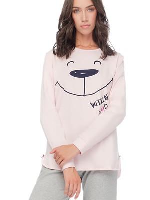 Πυτζάμα Γυναικεία MINERVA Weekend Mood- 100% Βαμβάκι Interlock - Smart Choice FW20/21