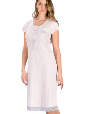 MINERVA Γυναικείο Νυχτικό Κορώνα - 100% Βαμβακερό - Νέα Μαμά - Hot Pick SS19