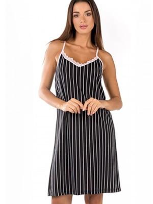 Γυναικείο Νυχτικό MINERVA Stripes - 100% Βαμβακερό - Smart Choice SS21