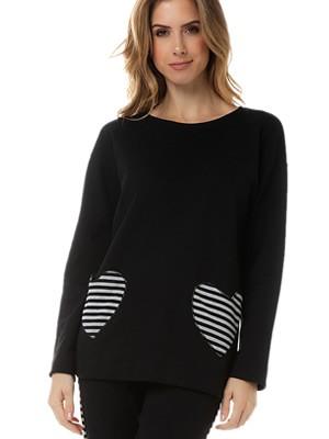 Πυτζάμα Γυναικεία MINERVA Stripes Pockets - Απαλό Βαμβάκι - Χειμώνας 2020/21