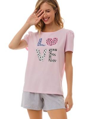 Γυναικεία Πυτζάμα MINERVA Love - 100% Βαμβακερή - Καλοκαίρι 2021